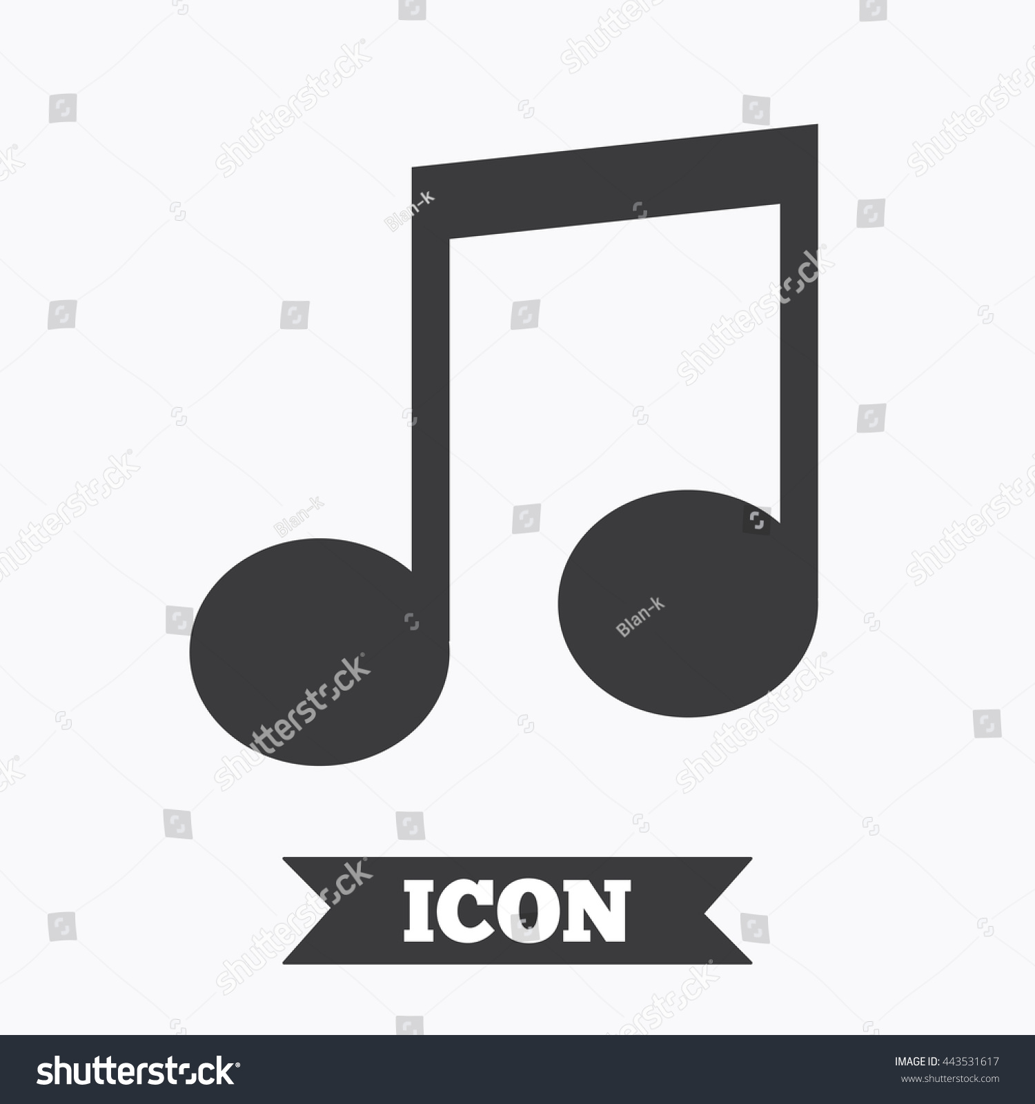 Music note sign icon musical symbol stock vector 443531617 music note sign icon musical symbol graphic design element flat music note symbol biocorpaavc Image collections