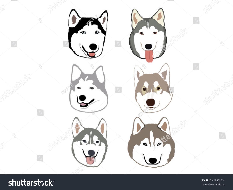 Siberian Husky Cartoon Stock Vector Royalty Free 443552701