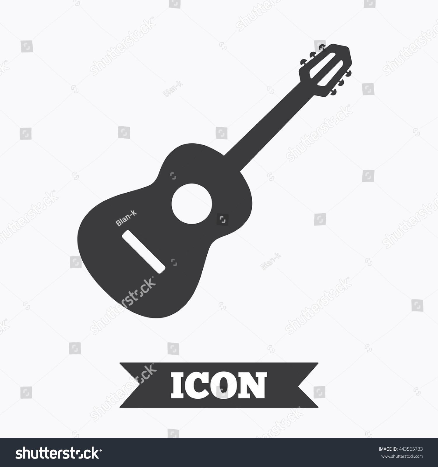 Acoustic guitar sign icon music symbol stock vector 443565733 music symbol graphic design element flat guitar symbol on biocorpaavc Images