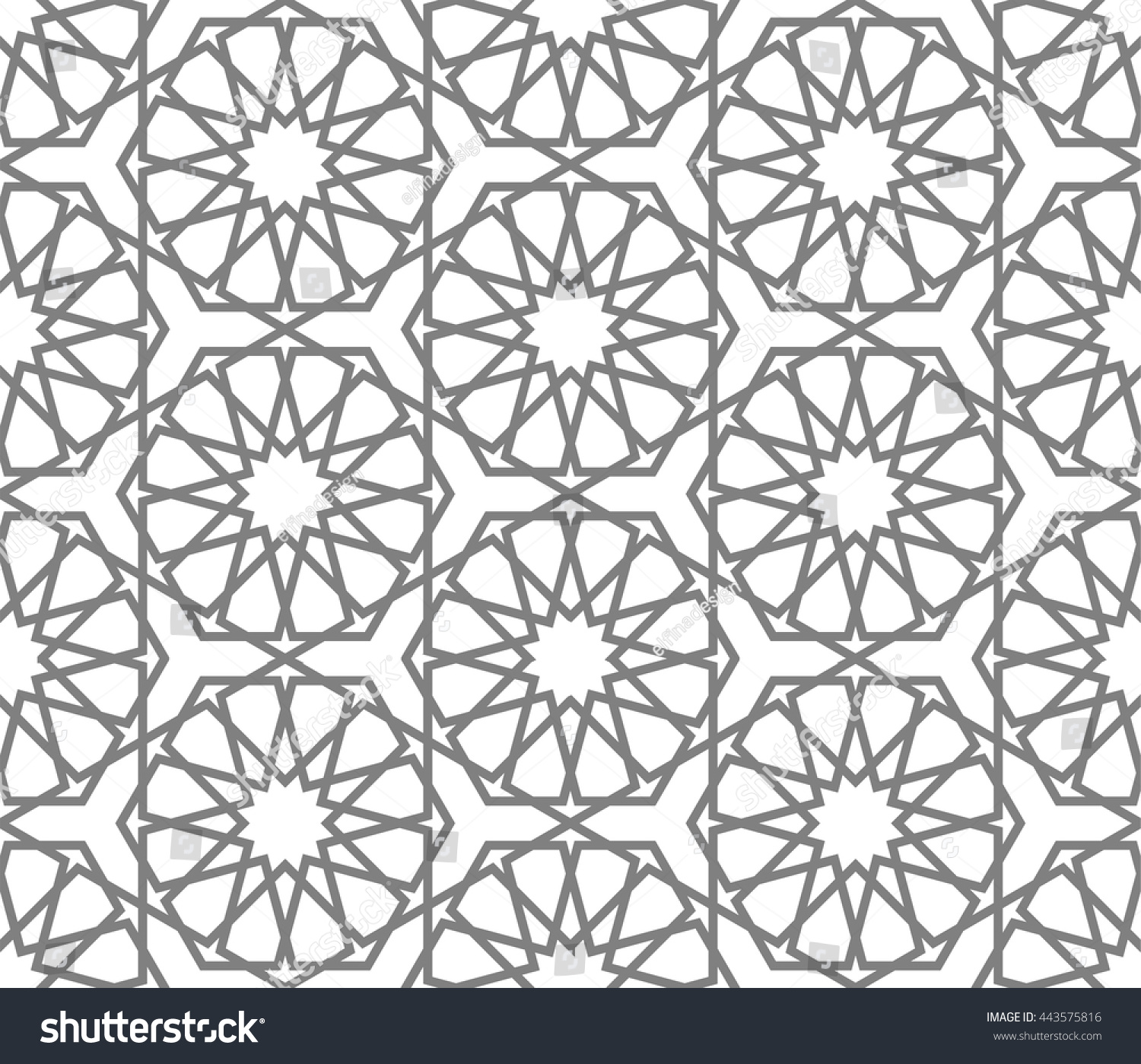 Charming Islamic Pattern, Abstract Geometric Pattern Vector, Arabesque Pattern