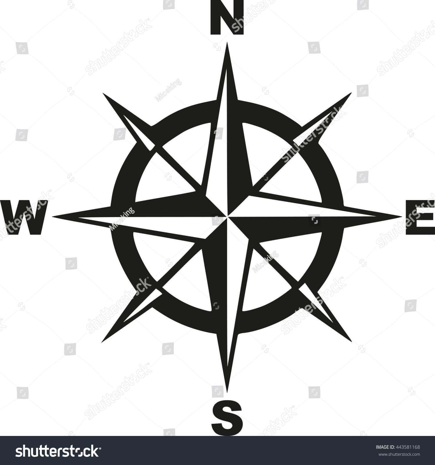compass north south east west のベクター画像素材 ロイヤリティ
