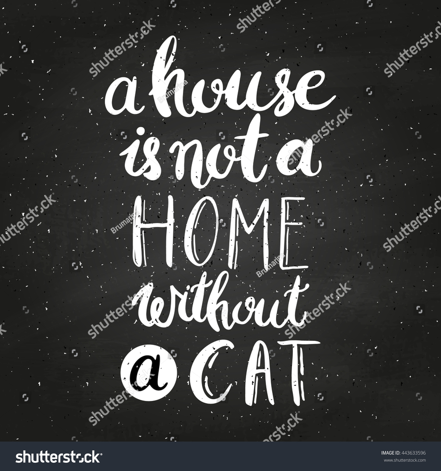 House Not Home Without Cat On Stock Vector Royalty Free 443633596