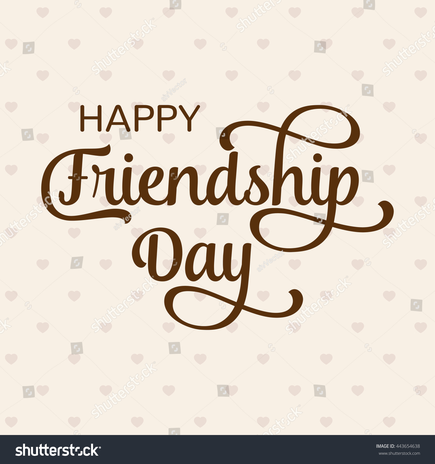 Happy Friendship Day Greeting Card Poster Vector 443654638 – Friendship Card Template