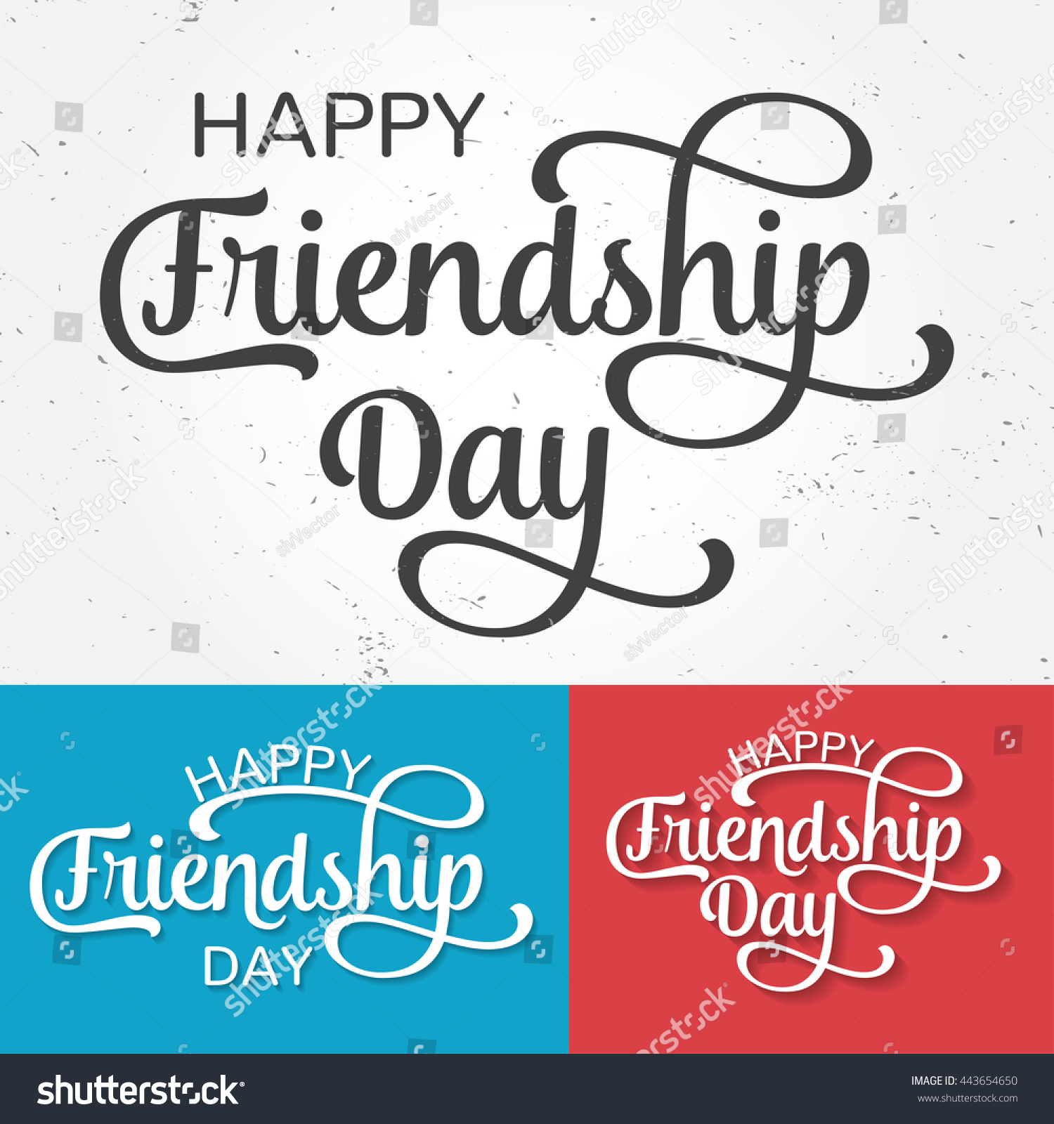Happy Friendship Day Greeting Card. For Poster, Flyer
