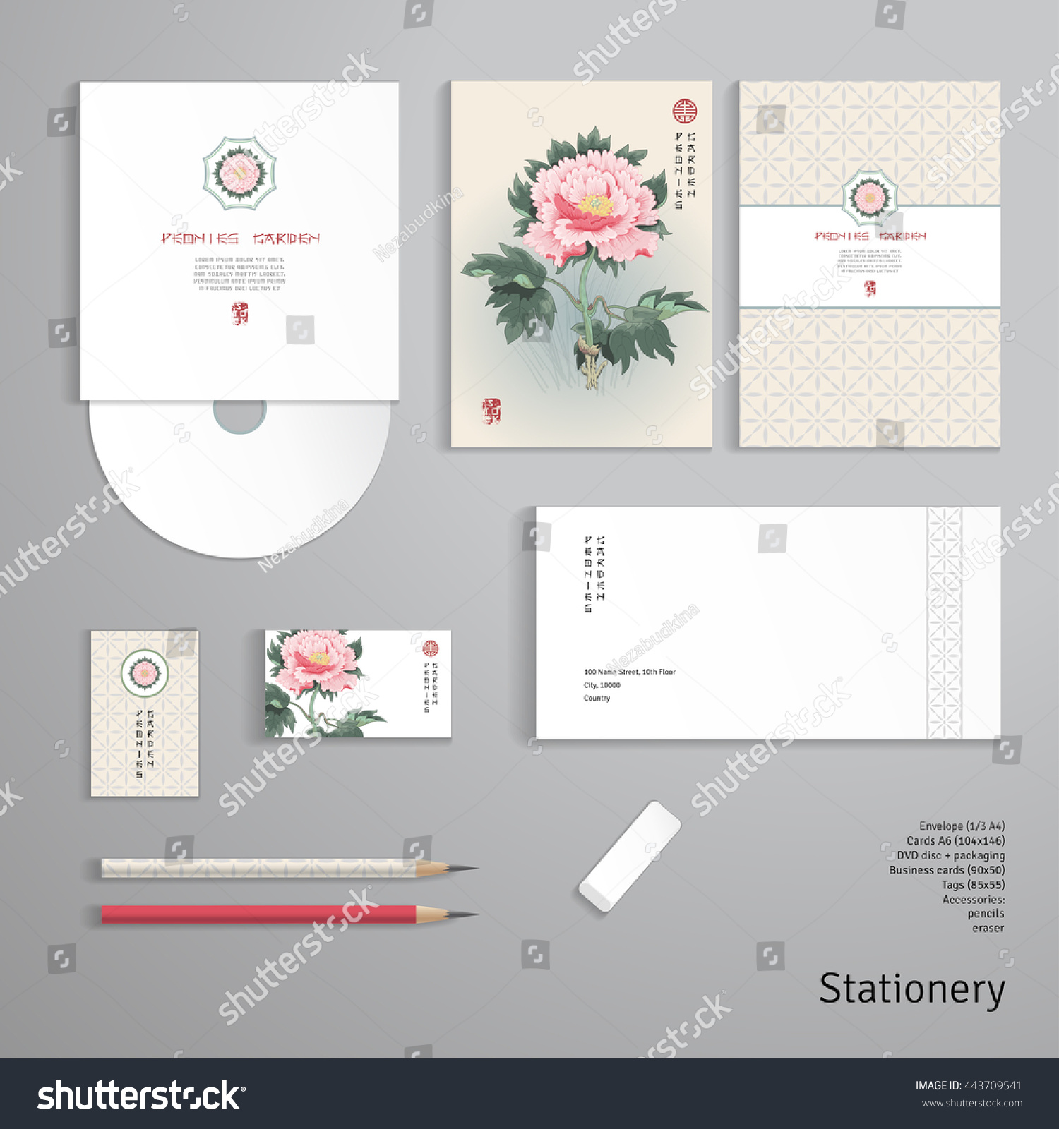 Vector Identity Templates Envelope Business Card Stock Vector ...