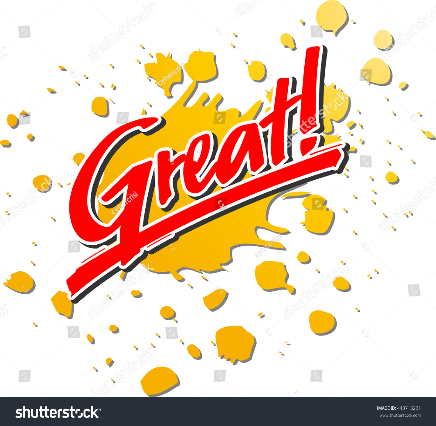 word great front splash stock vector royalty free 443713231