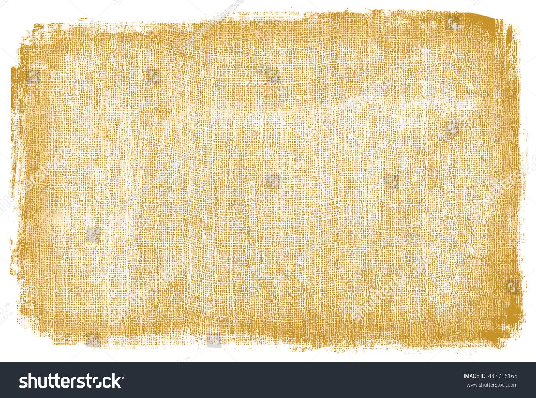 Burlap Rough Fabric Background Frame Textured Stock Illustration ...