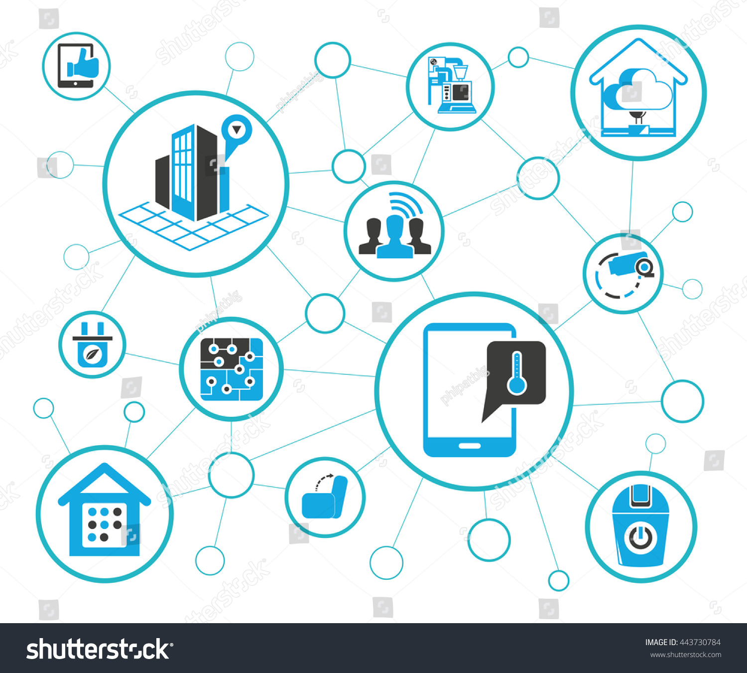 Internet Things Concept Home Automation Icons Stock Vector (Royalty ...
