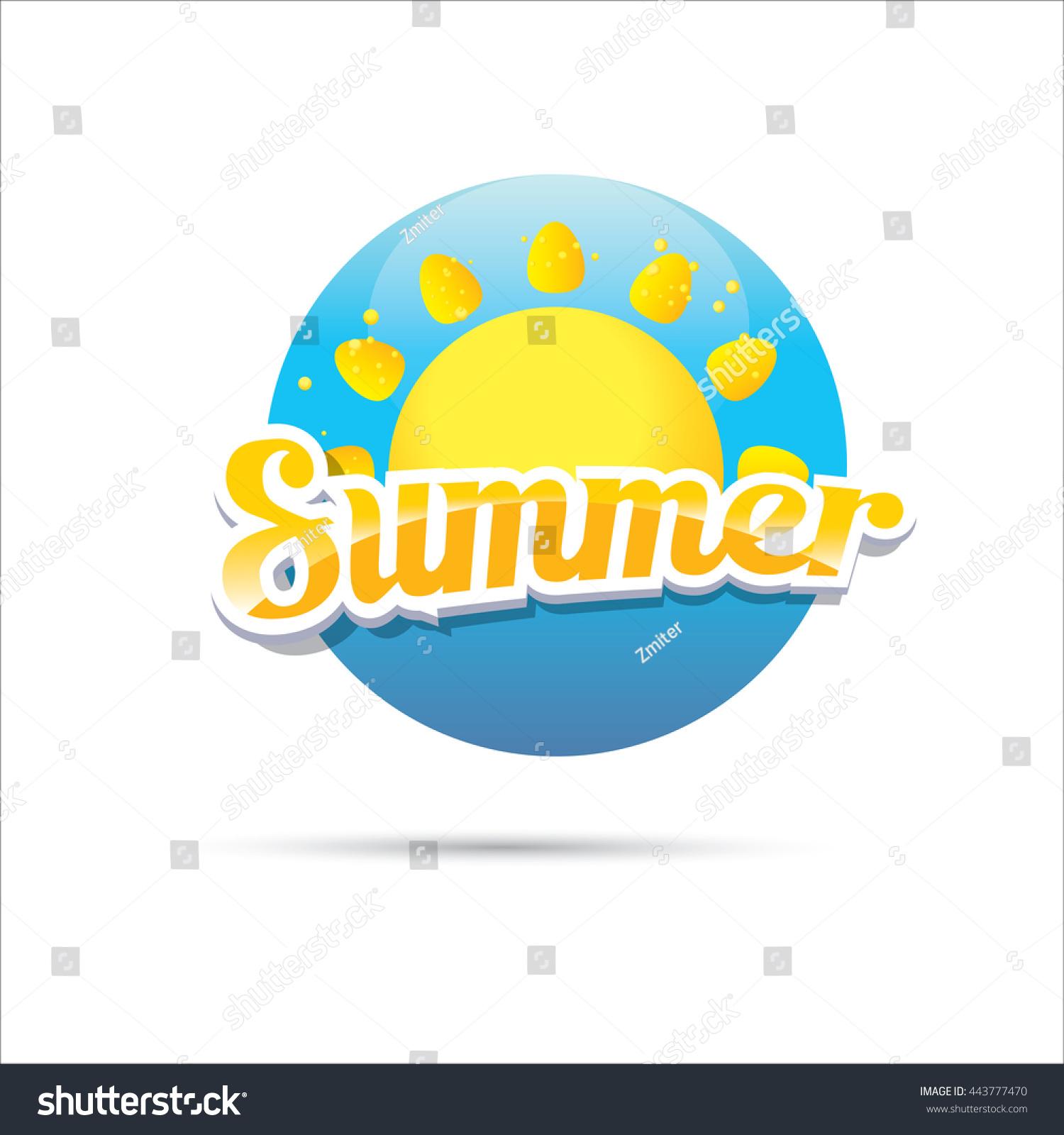 Vector Summer Label Summer Icon Sun Stock Vector 443777470 ...