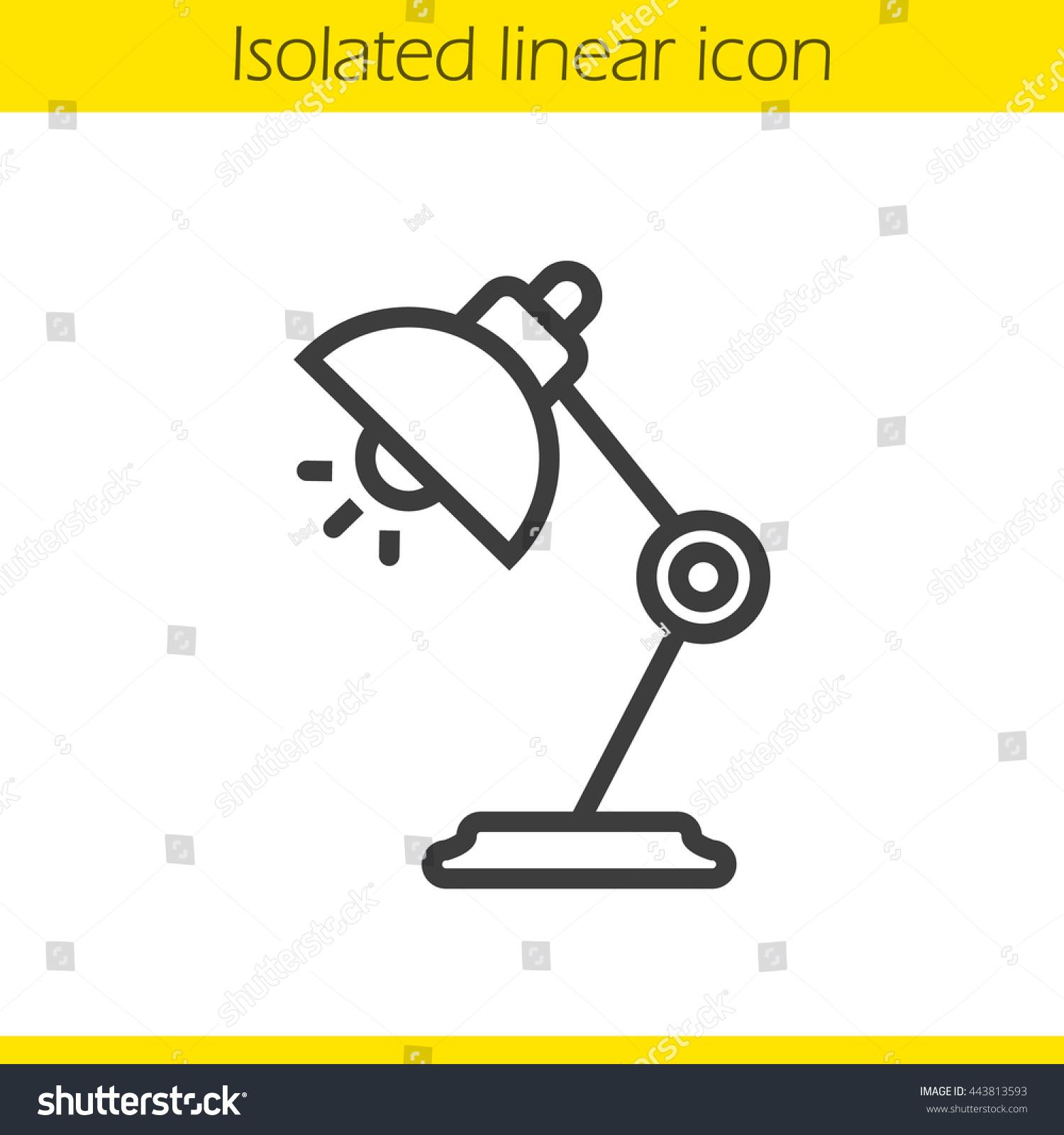 Table Lamp Linear Icon Thin Line Illustration Desk Lamp Contour – Desk Lamp Logo