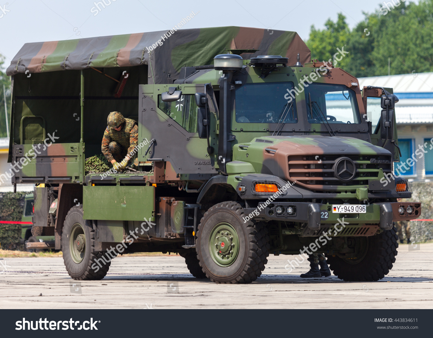 Burg germany june 25 2016 german army truck for Mercedes benz military vehicles