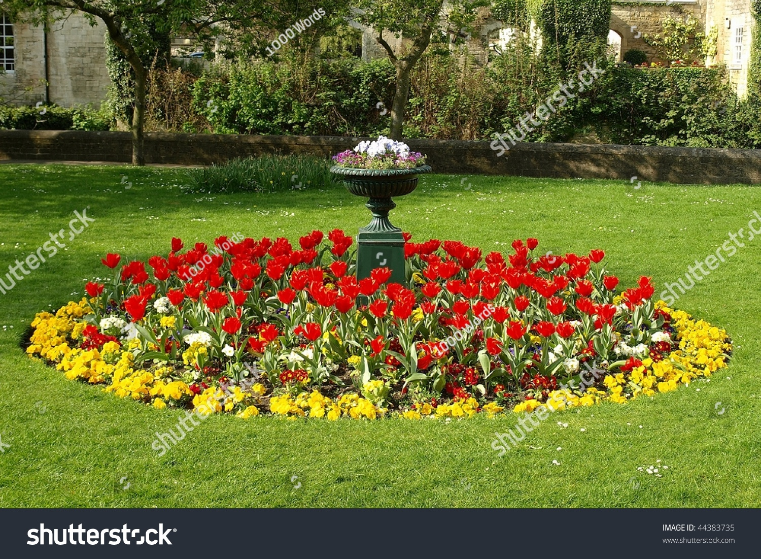 Flower bed formal garden stock photo 44383735 shutterstock - How to landscape a flower bed ...