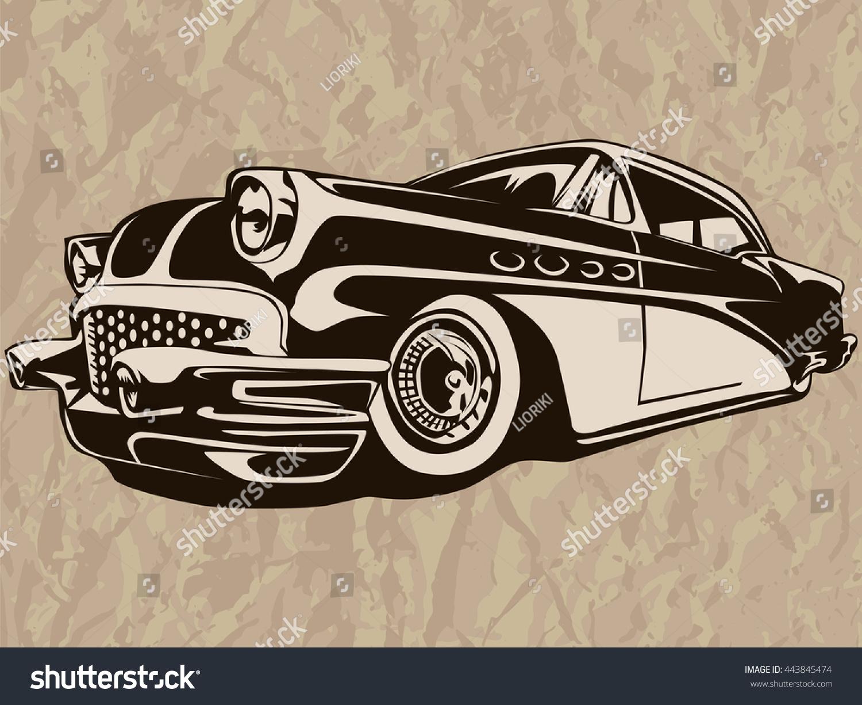 Vintage American Muscle Car Old Mobile Ez Canvas