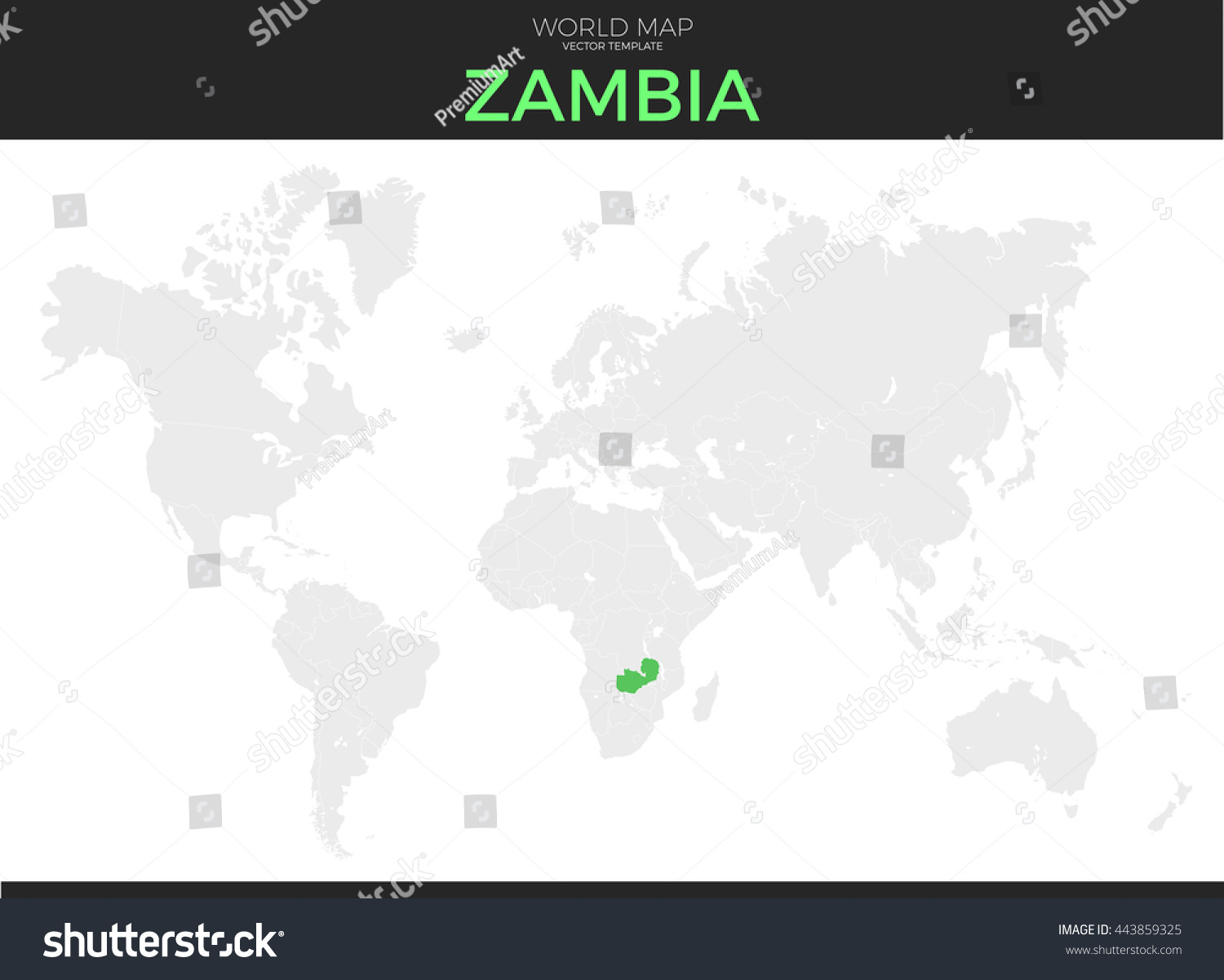 Zambia location map republic zambia location modern detailed vector stock vector gumiabroncs Choice Image