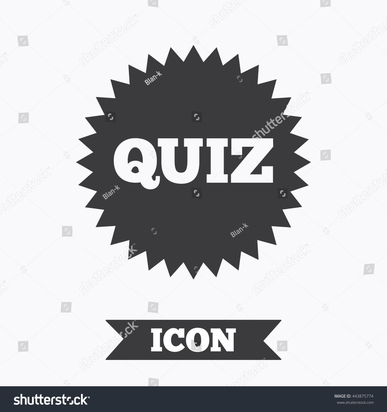 quiz star sign icon questions and answers game symbol graphic save to a lightbox