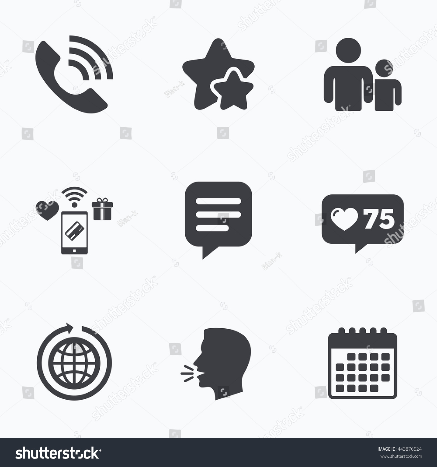Group Of People And Share Icons Speech Bubble And Round The World