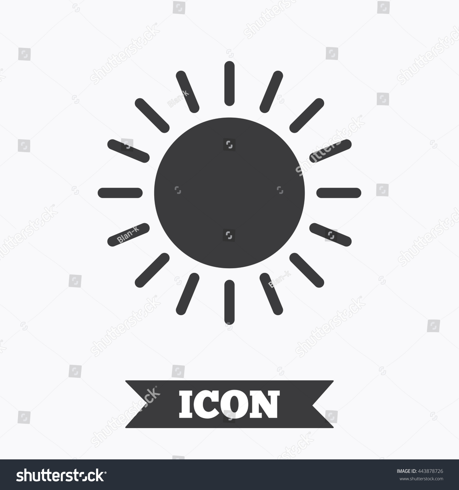 Sun Icon Sunlight Summer Symbol Hot Stock Vector Royalty Free