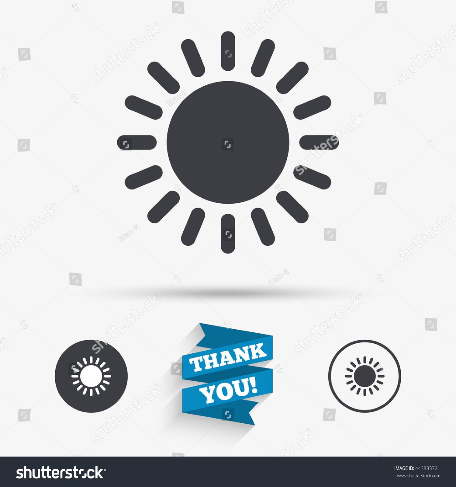 Sun Icon Sunlight Summer Symbol Hot Stock Vector 443883721
