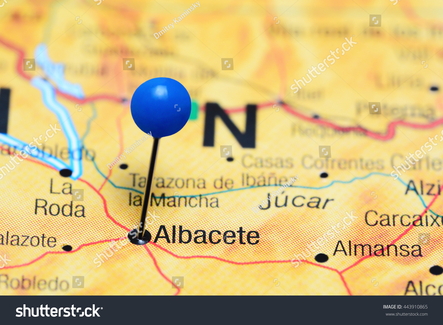 Albacete Pinned On Map Spain Stock Photo Edit Now 443910865