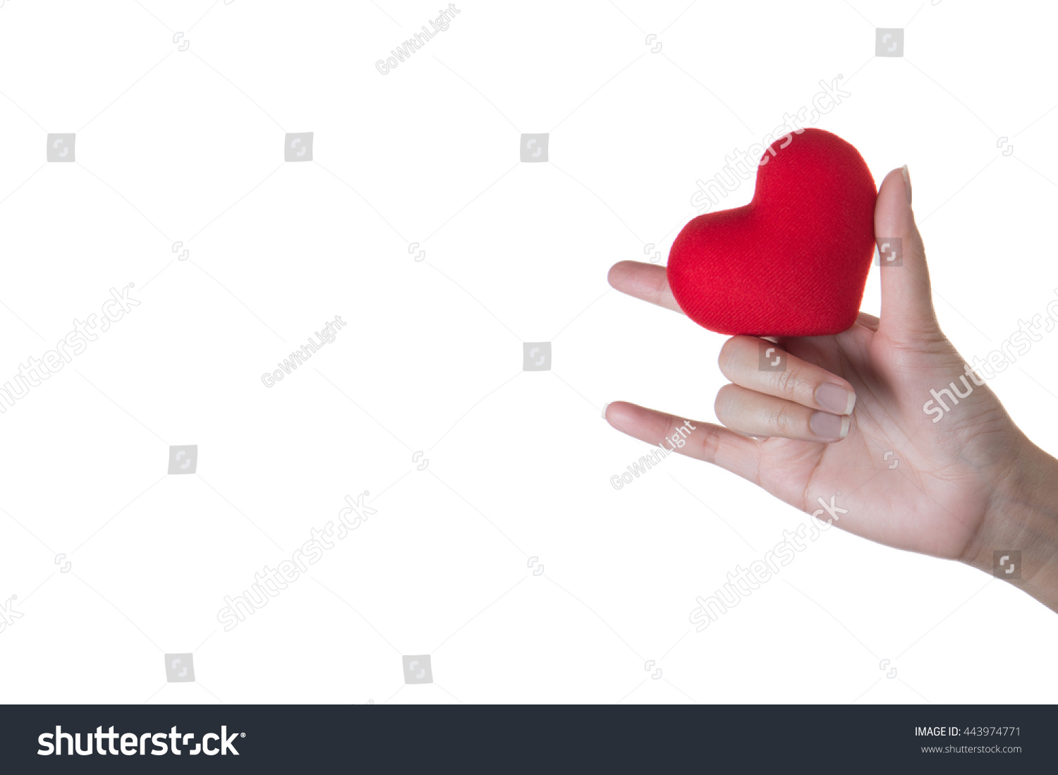 Love you language hand sign holding stock photo 443974771 i love you language hand sign with holding heart symbol in hands biocorpaavc