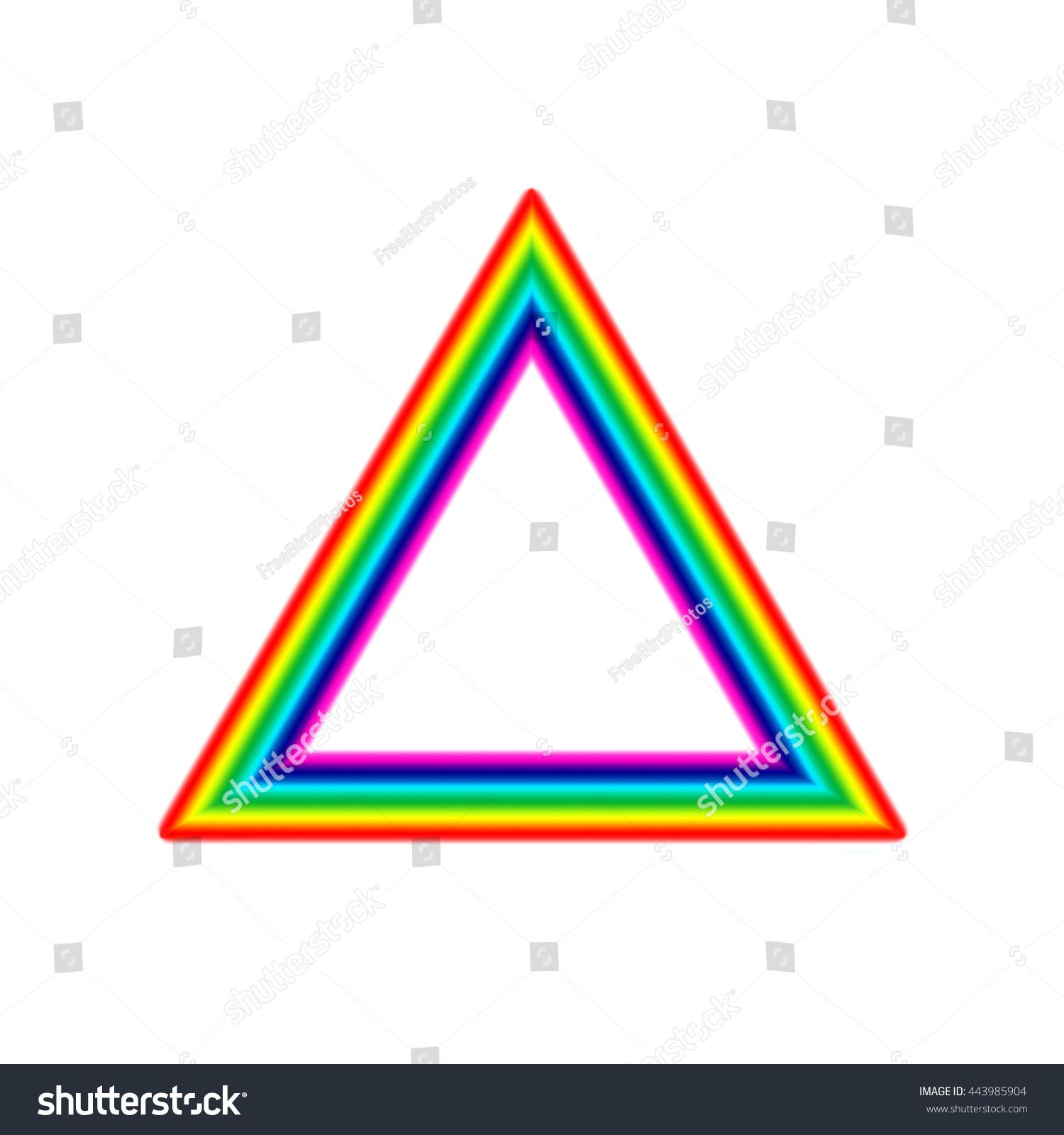 Rainbow Triangle Frame Stock Illustration 443985904 - Shutterstock