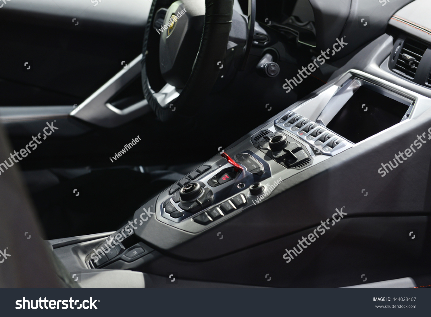 Bangkok June 23 Interior Lamborghini Aventador Stock Photo (Royalty ...
