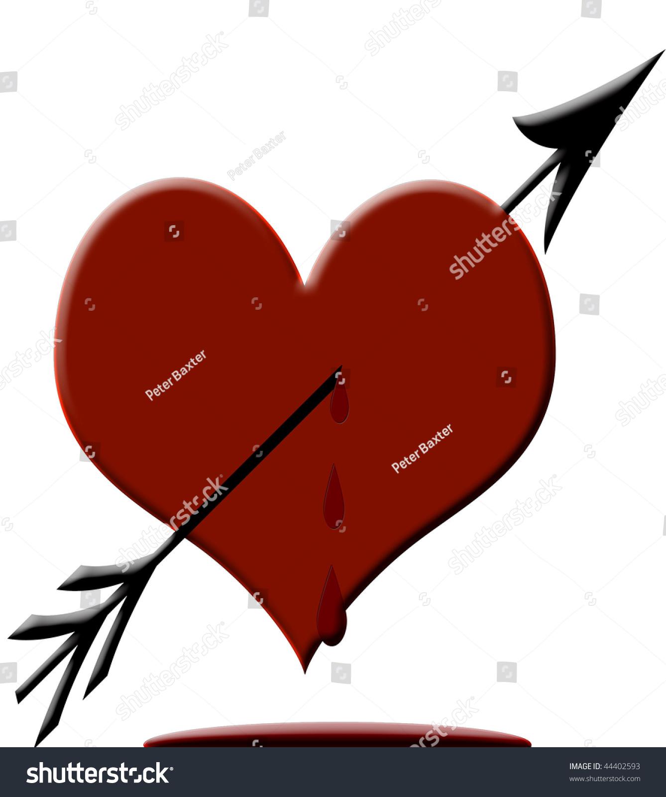 Bleeding heart true symbol love stock illustration 44402593 bleeding heart the true symbol of love buycottarizona
