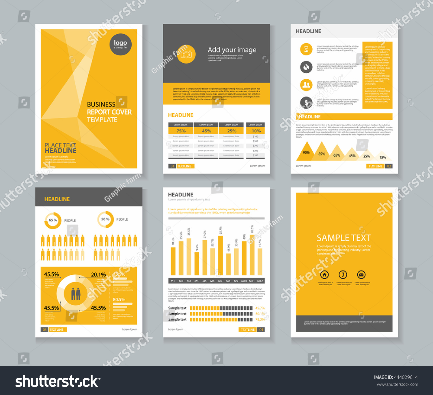Yellow Page Business Company Profile Annual Stock Vector Royalty