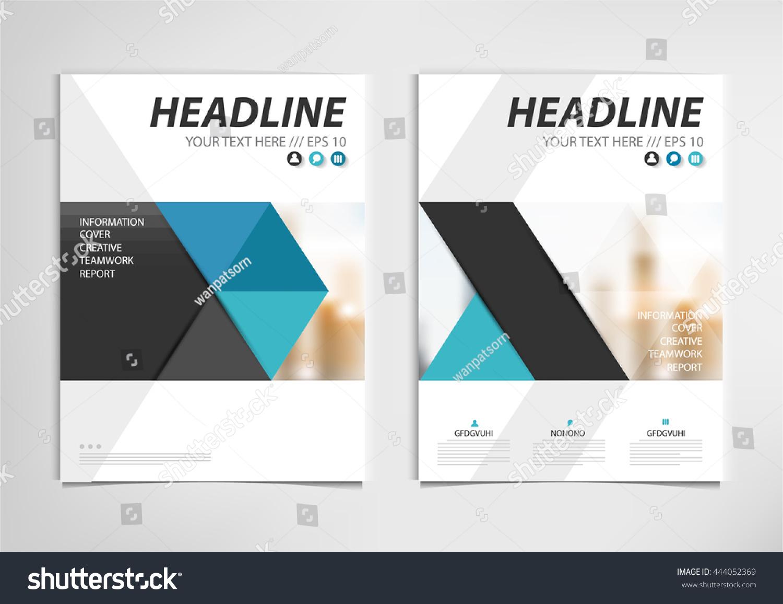 Blue annual report brochure template design stock vector for Book report brochure template