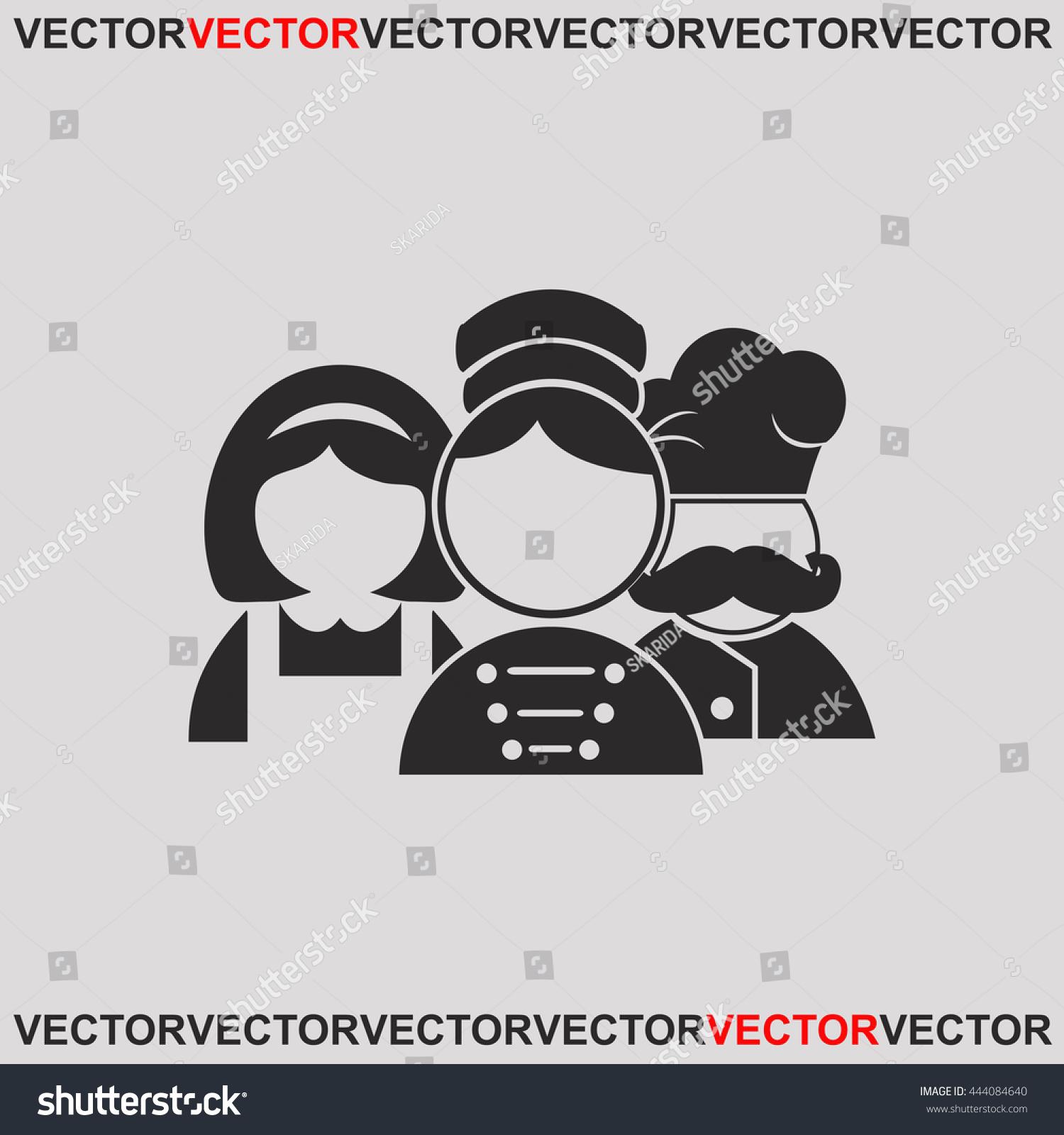 Hotel Staff Icon Stock Vector 444084640