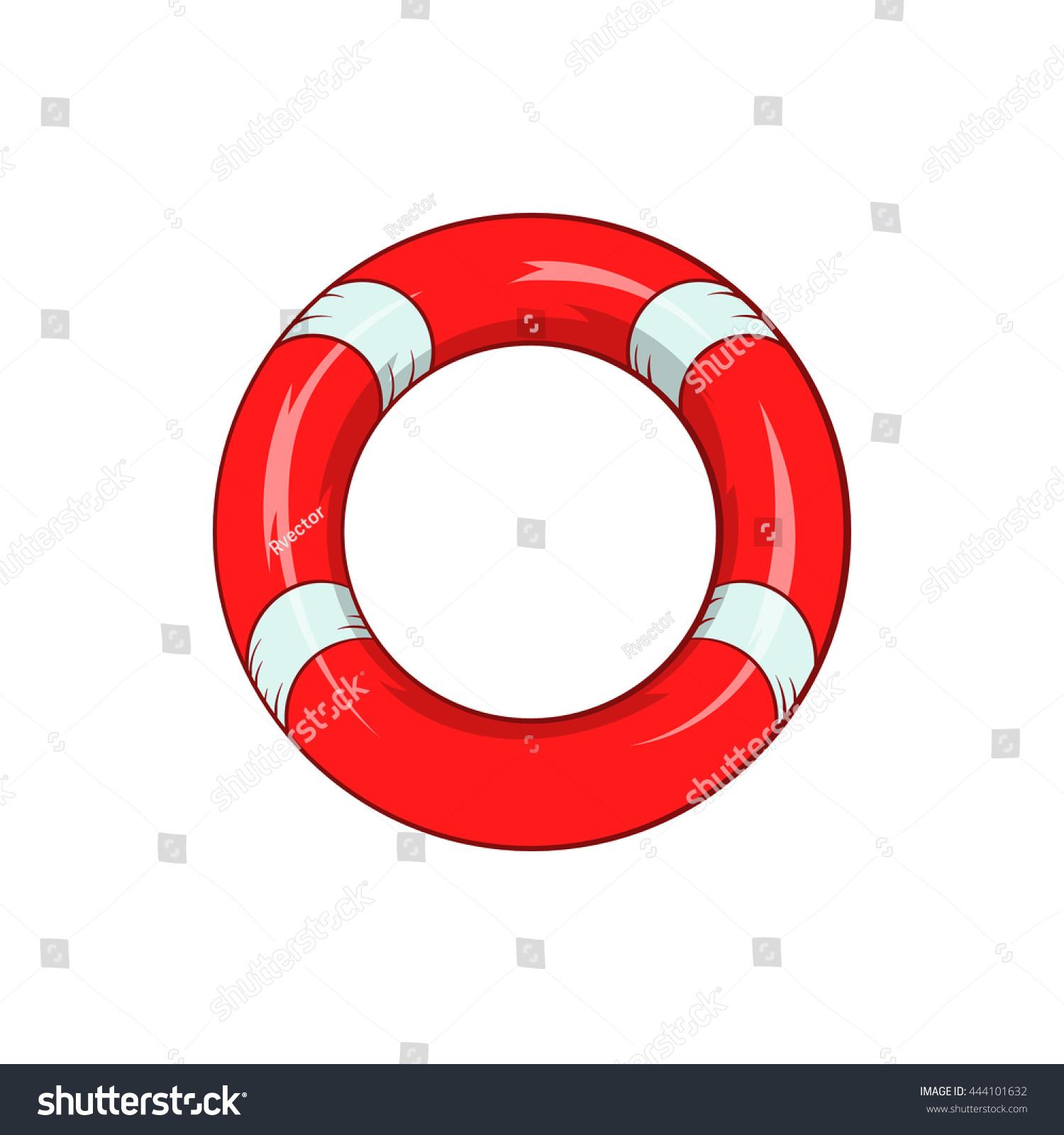 Lifeline Icon In Cartoon Style Isolated On White Background