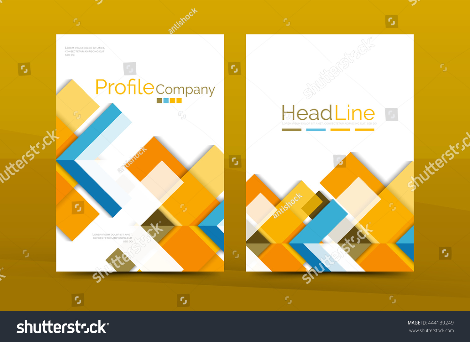 color business brochure cover vector template stock vector color business brochure cover vector template annual report front page a4 size leaflet