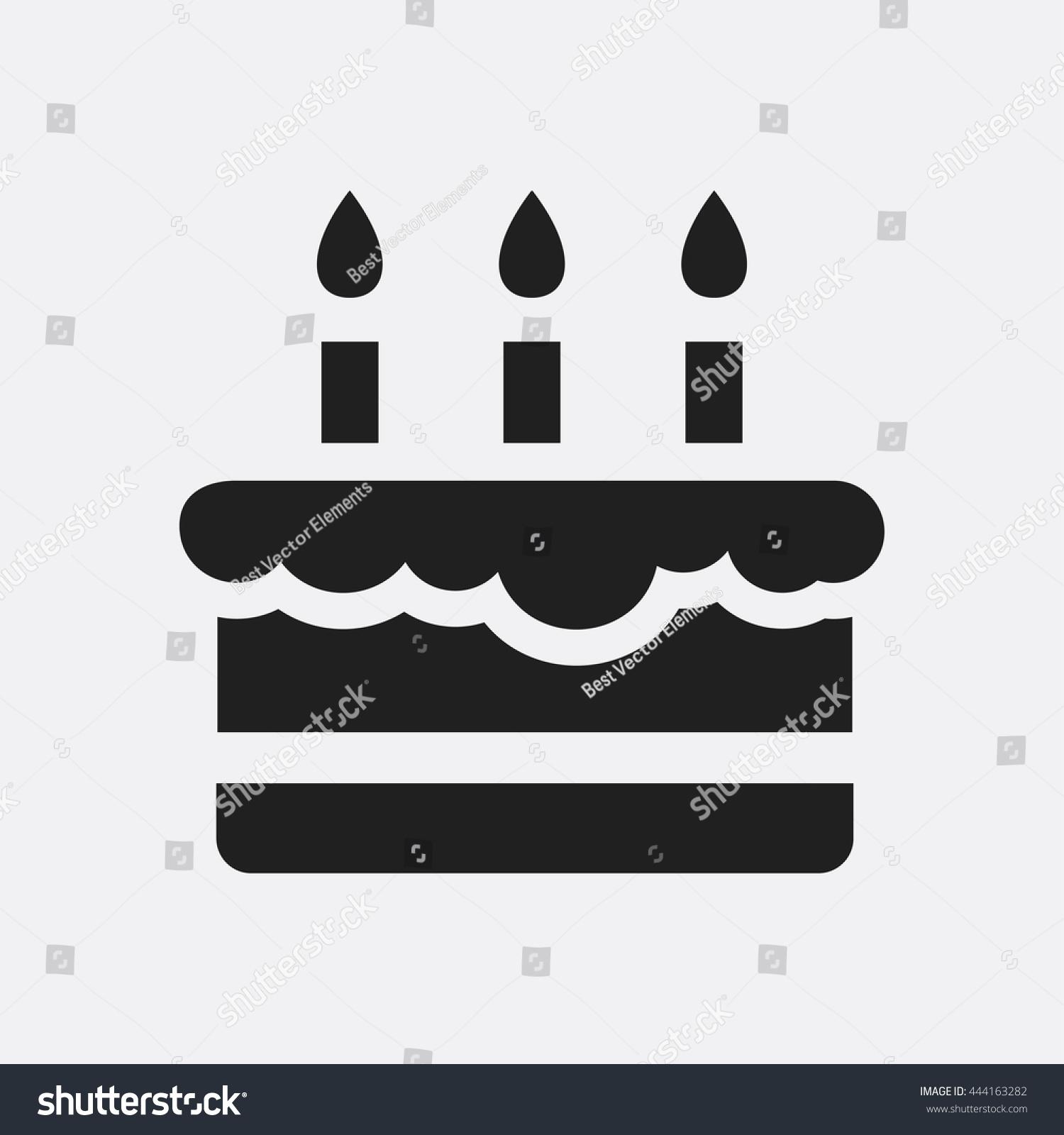 Birthday Cake Icon Stock Vector 444163282 Shutterstock
