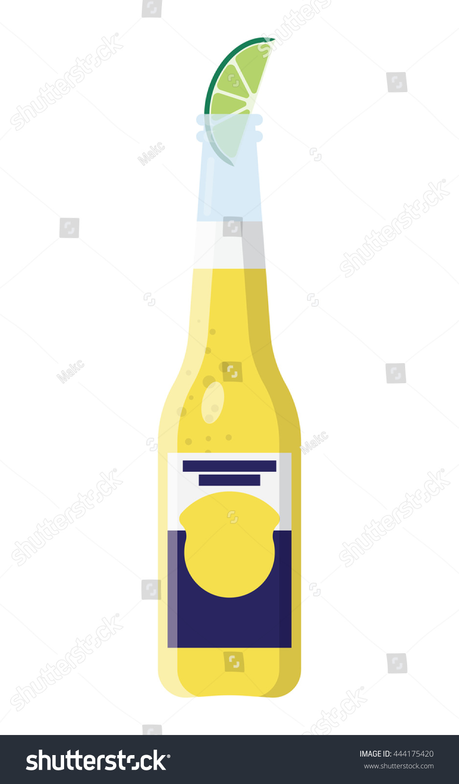 Clip Art Beer Bottle Clip Art beer bottle slice lime clip art stock vector 444175420 shutterstock with a of in format