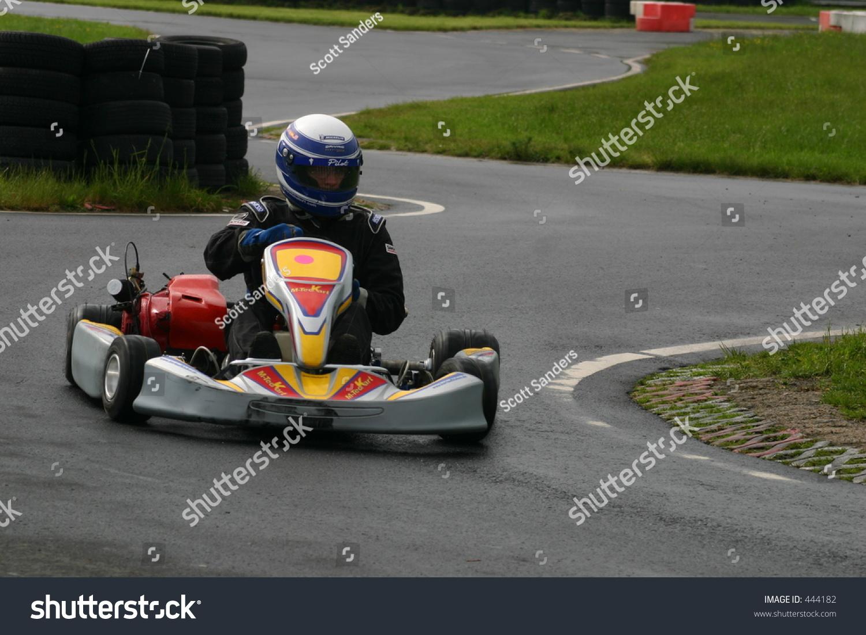 Go Kart Racer Going Around Curve Stock Photo Edit Now 444182