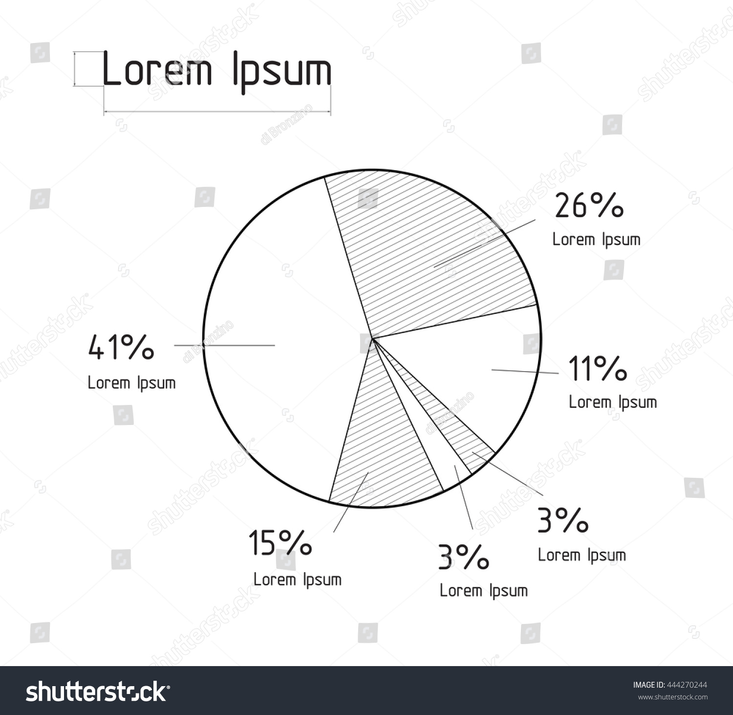 Vector illustration line pie chart infographic stock vector vector illustration of the line pie chart infographic elements technical drawing nvjuhfo Choice Image