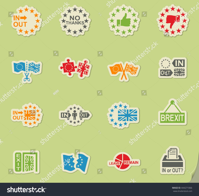Vector Symbol Brexit Icon Set Web Stock Vector 444271066 Shutterstock