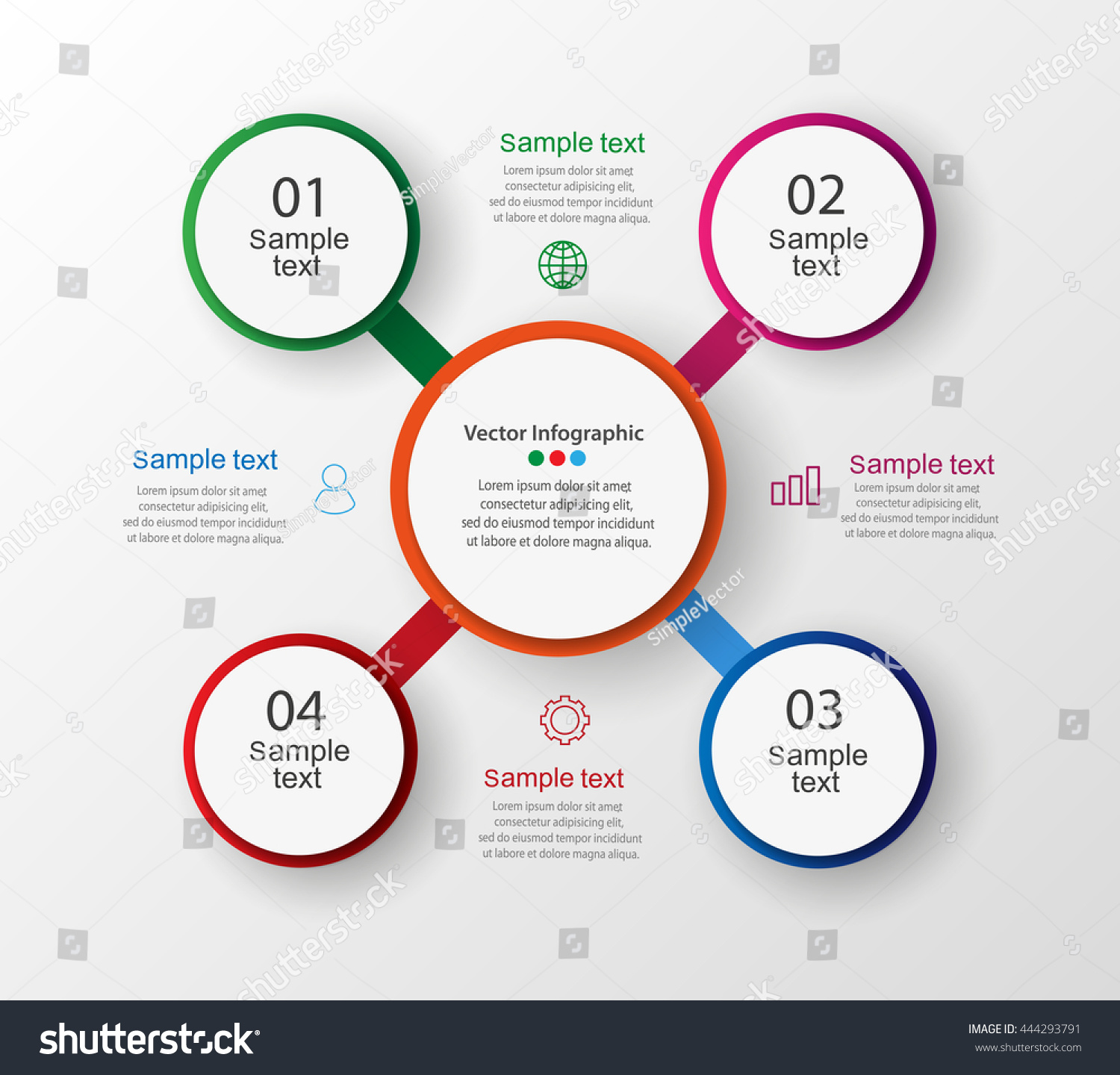 Infographic circle diagram vector banner steps em vetor stock infographic circle diagram vector banner with steps parts options template for business ccuart Images