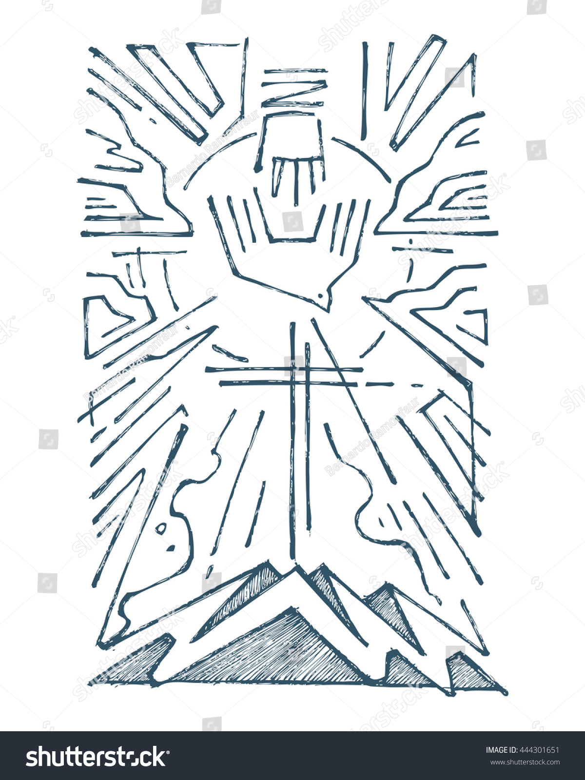 Hand drawn illustration drawing holy trinity stock vector 444301651 hand drawn illustration or drawing of the holy trinity religious symbol buycottarizona Image collections