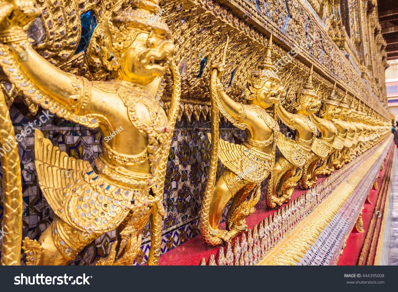 Golden Garuda Decoration On Wall Main Stock Photo (Download Now ...