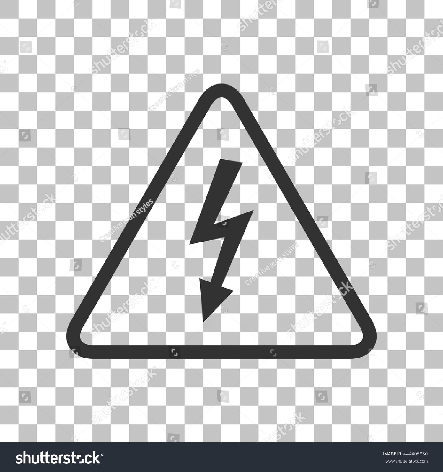 High Voltage Danger Sign Dark Gray Stock Vector (2018) 444405850 ...