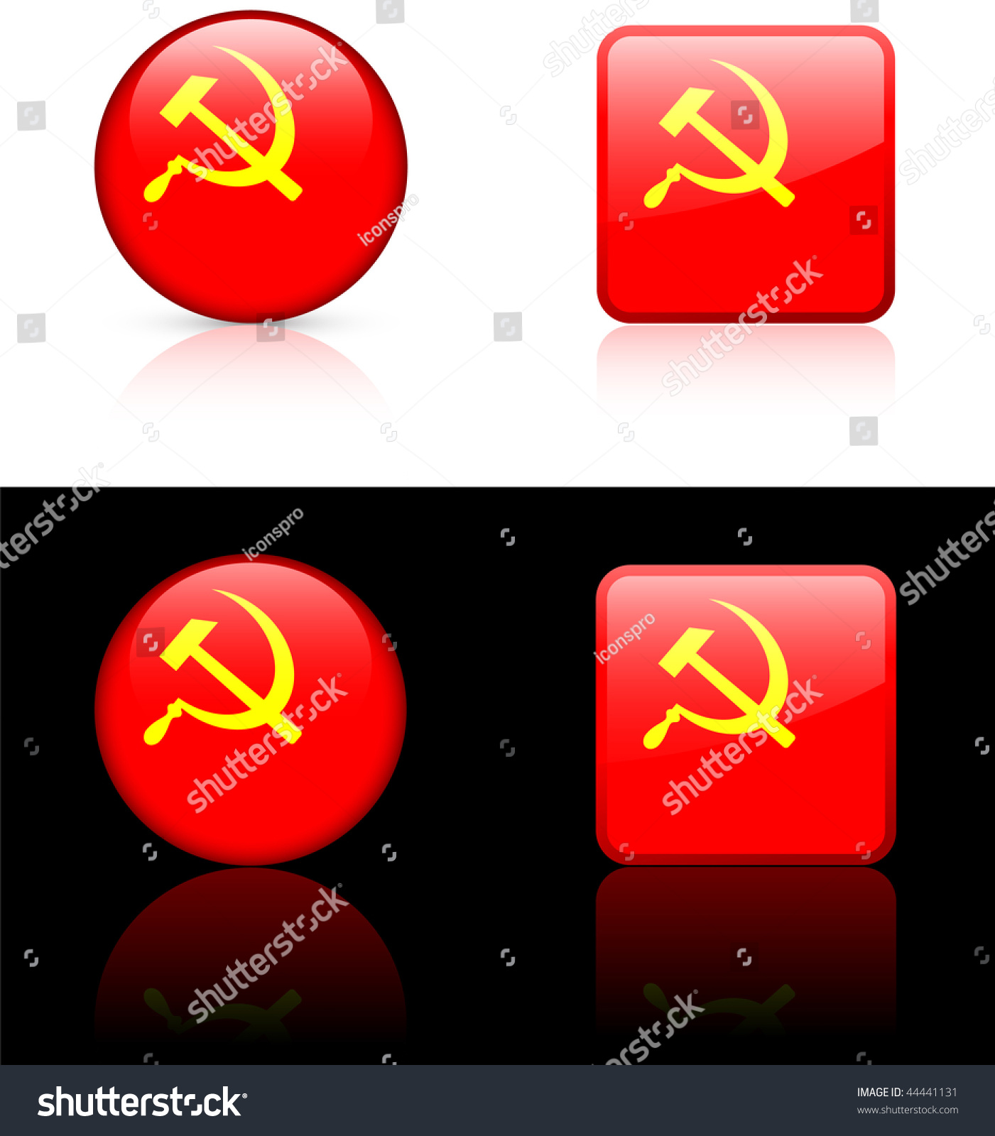 Ussr Flag Black And White Ussr (Cccp) Flag Butto...
