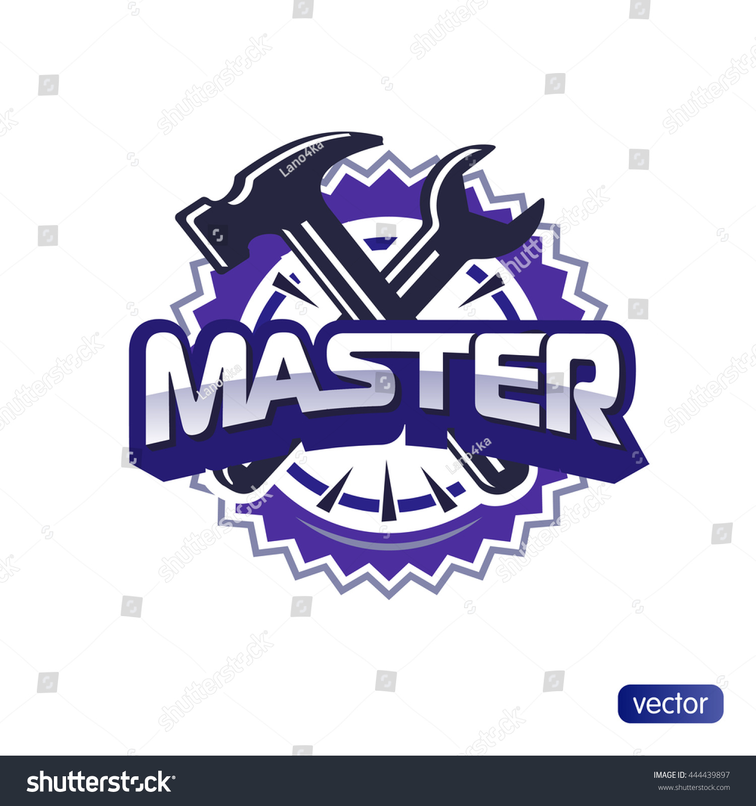 Logo master lettering brand symbol service stock vector 444439897 logo master lettering brand symbol service mark isolated on white background vector illustration biocorpaavc Image collections