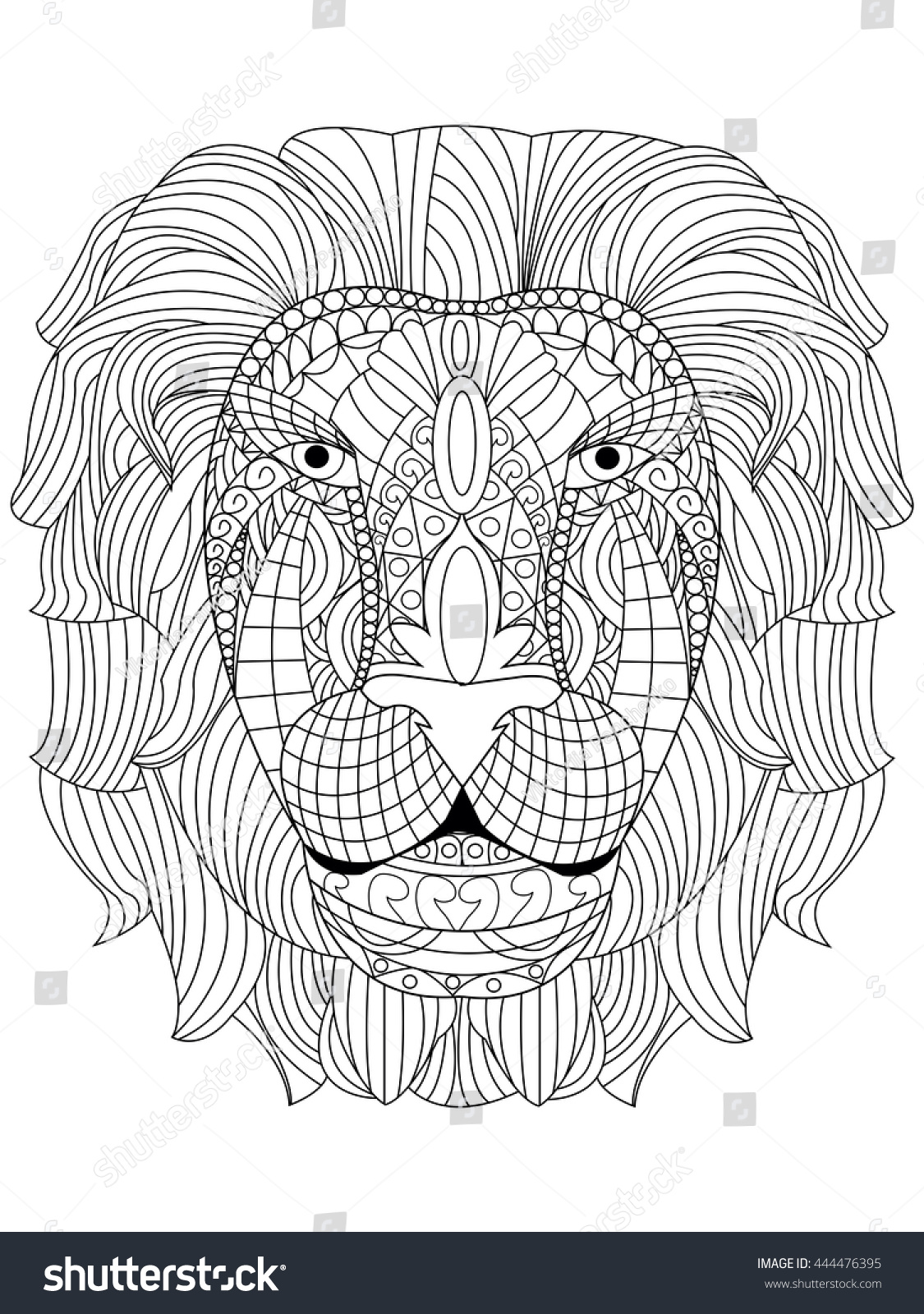 Coloring book for adults lion - Anti Stress Coloring Book Lion Lion Head Coloring Book For Adults Vector Illustration Anti Stress