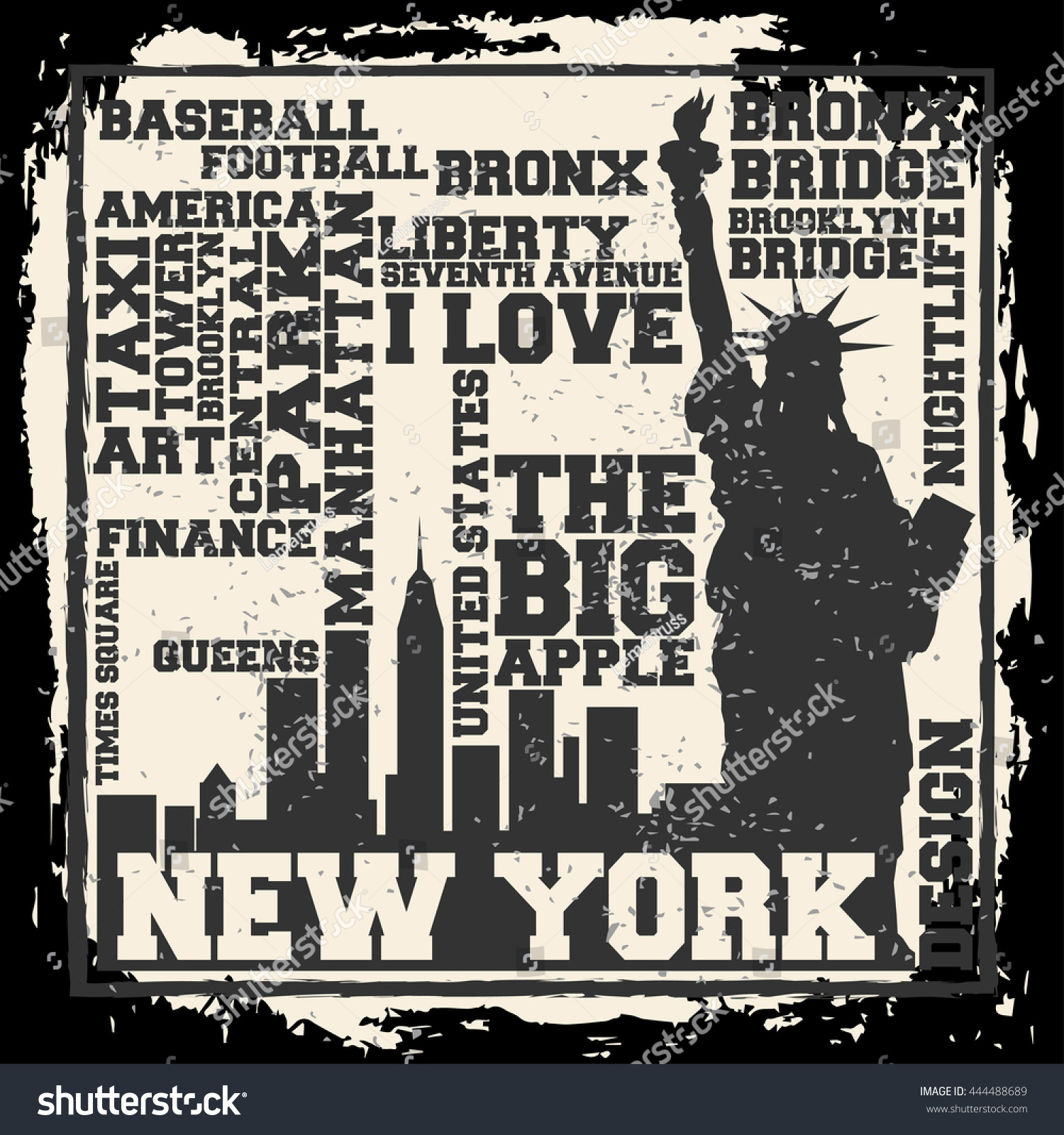 Poster design nyc - New York City Concept Logo Label T Shirt Design Nyc