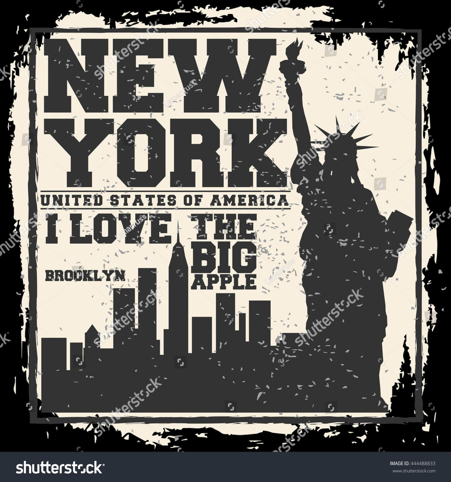 Poster design nyc - Poster Design New York New York City Concept Logo Label T Shirt Design Nyc