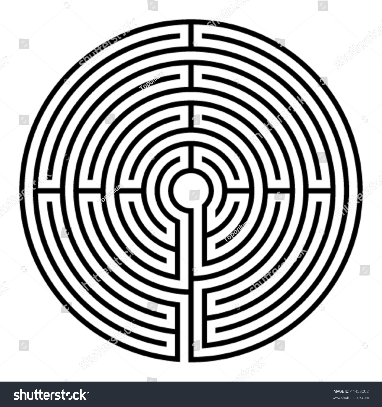 simple black circular labyrinth on white stock-vektorgrafik, Gartengerate ideen