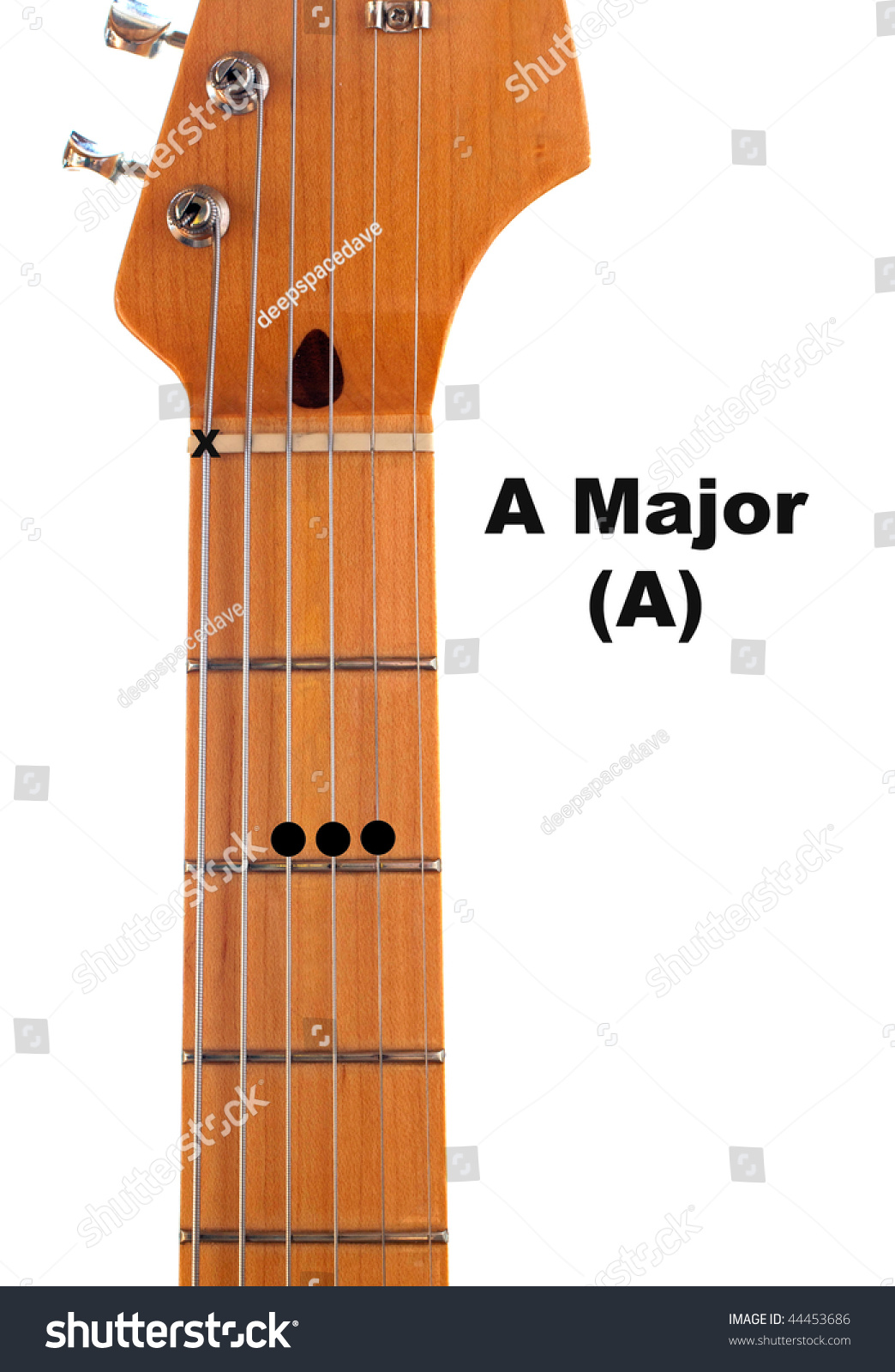 Diagram How Finger Major Guitar Chord Stock Photo Edit Now