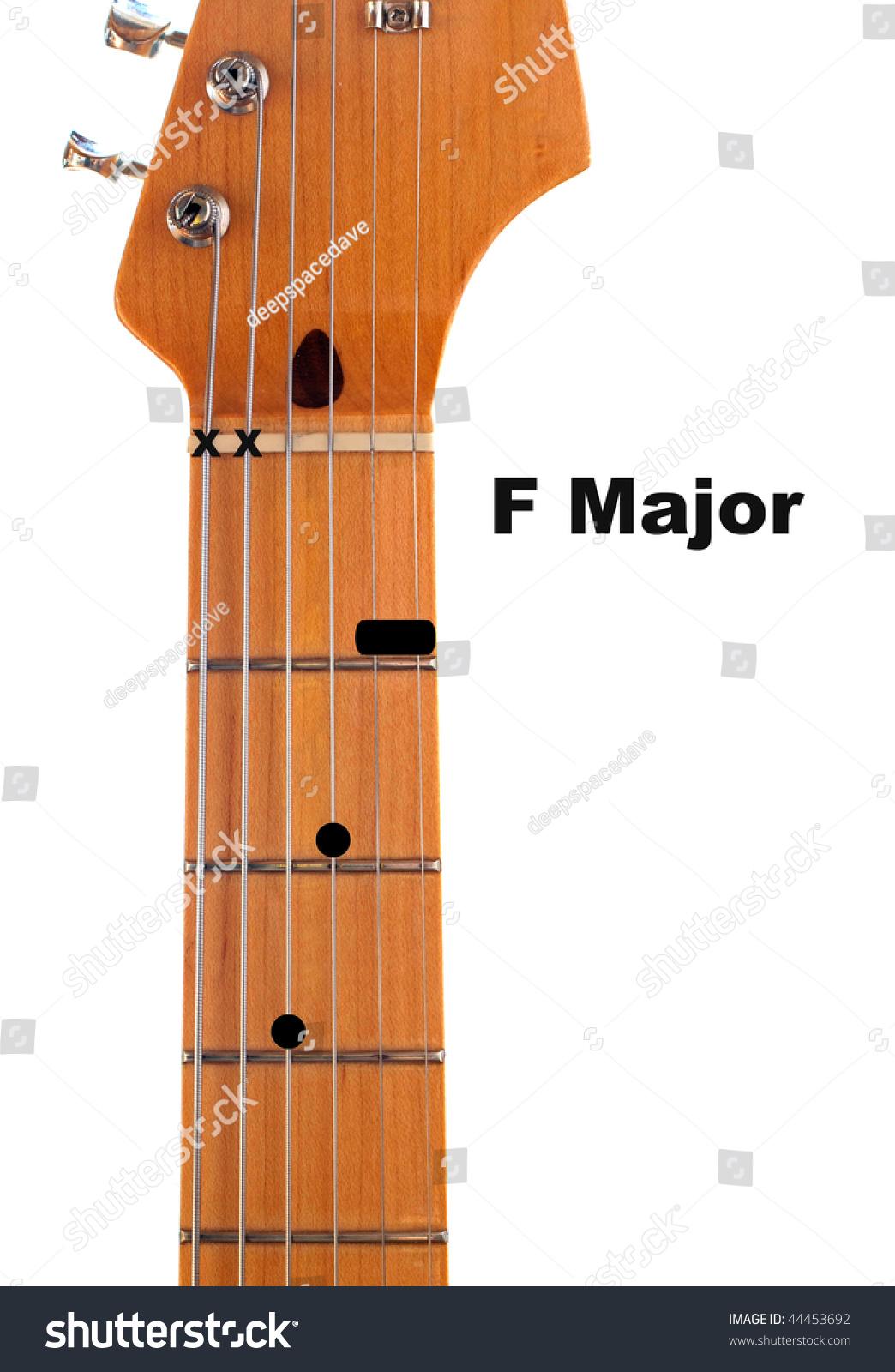 Diagram How Finger F Major Guitar Stock Photo Edit Now 44453692