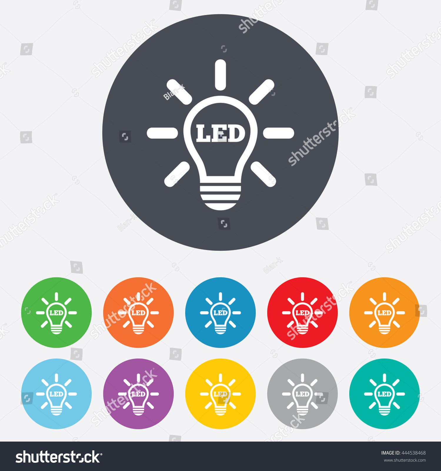 Led Light Lamp Icon Energy Symbol Stock Vector 2018 444538468